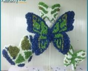 Emulational Foam Paper Butterfly Decoration Window Display Props
