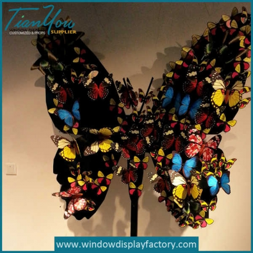 Artificial metal acrylic butterfly decoration window display props