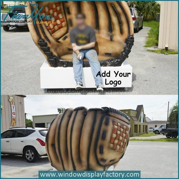 Foam baseball glove chair furniture