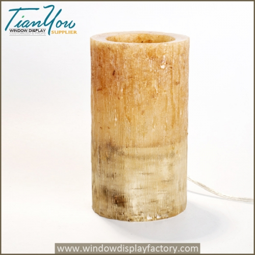 Custom wood table resin lamp for atmosphere