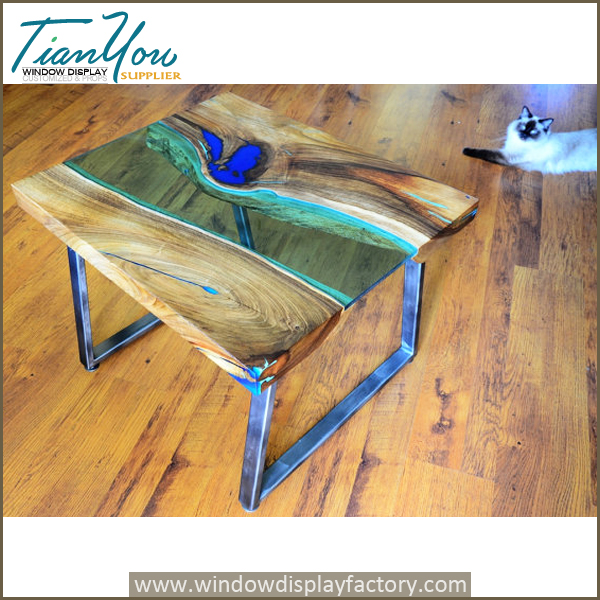 Custom glow resin table in the dark industrial furniture for Glow in the dark table