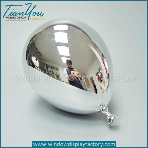 Electroplated Silver balloon