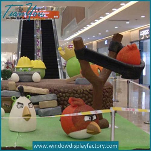 Handmade Fake Fiberglass Angry Birds Giant Display