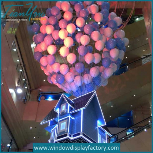Display Props Colorful Fiberglass Balloons Decorations