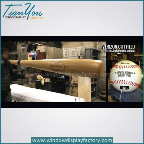 Custom giant foam baseball glove chair for display