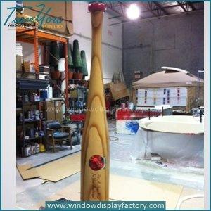 Movie theme giant foam baseball bat display prop sculpture
