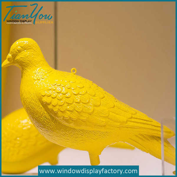 Carved colored foam fake artificial birds decoration for Artificial birds for decoration