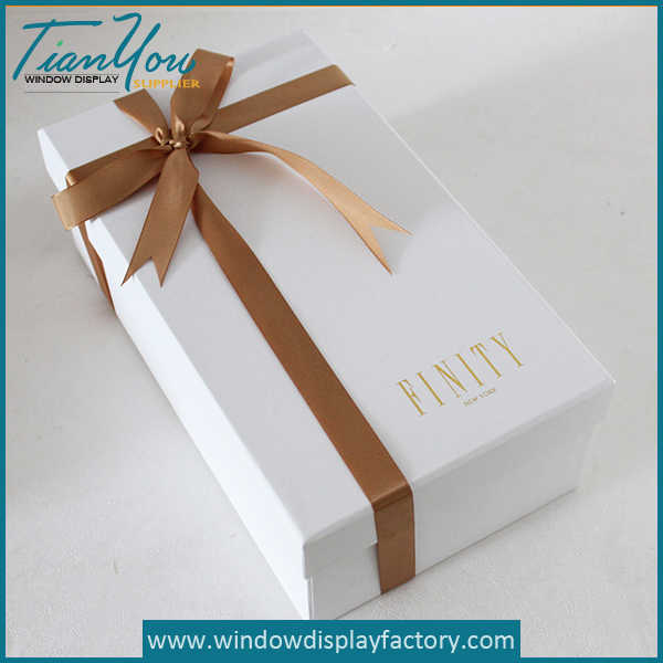 Custom Small Paper Gift Box with Logo Bowknot