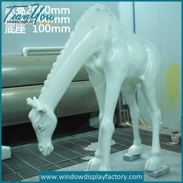 Life Size Fiberglass Camel Statue Mall Display Props