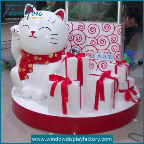 Fiberglass Cast Cat Mall Display Props