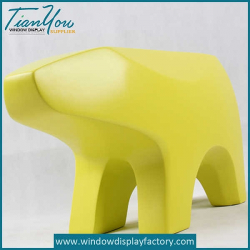 Animal Shape Fiberglass Sitting Stool