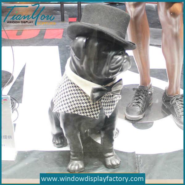 Window Display Props Fiberglass Dog Mannequin