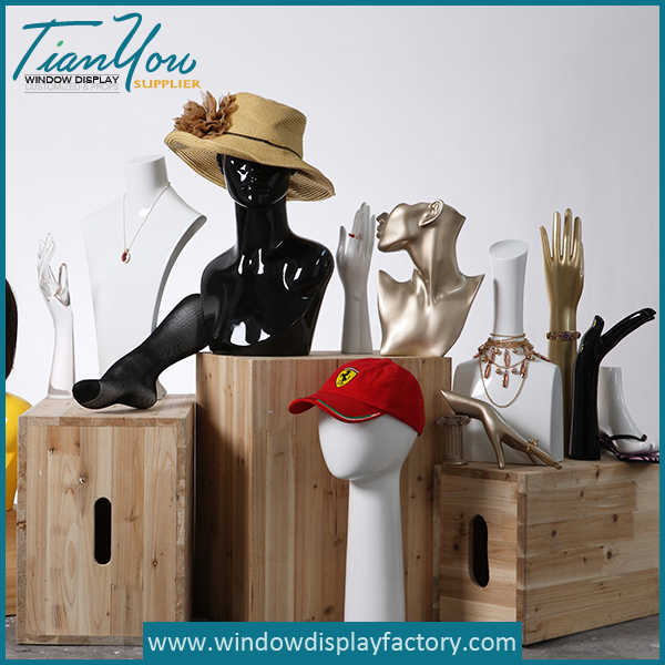 Female Fiberglass Mannequin Heads Props