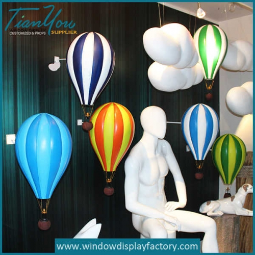 Modern Decoration Fiberglass Hot Air Balloon