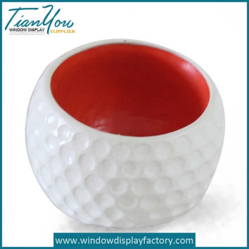 Decorative Indoor Ball Fiberglass Plant Pot
