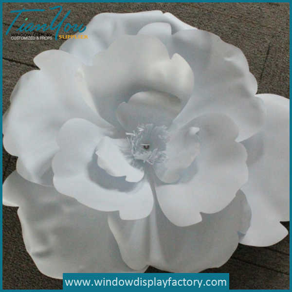 Decorative Artifical Giant White PVC Fake Flowers
