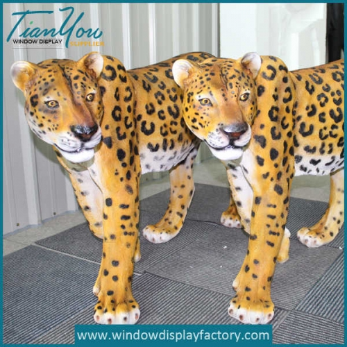 Outdoor Decoration Life Size Fiberglass Tiger Statues