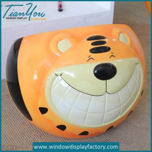 Hot Selling Kid Chair Ball Fiberglass Tiger Stool