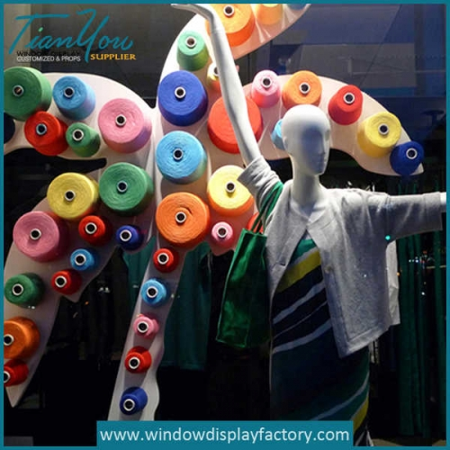 Colorful Foam Tree Window Display Props