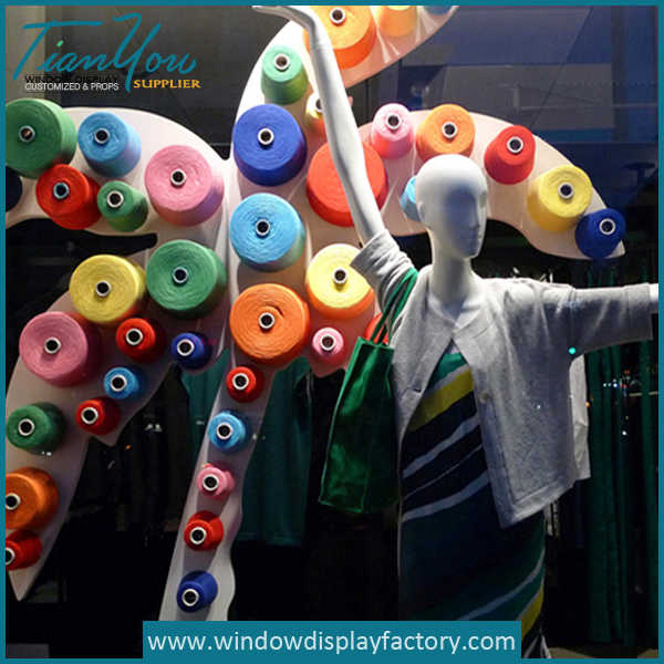 Colorful Foam Artificial Palm Trees Window Display