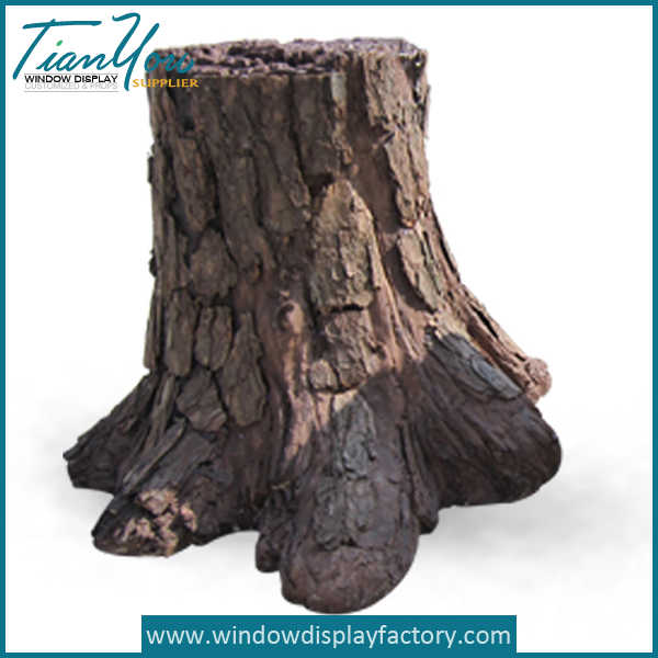 Decorative Fake Resin Life Size Tree Stump Display