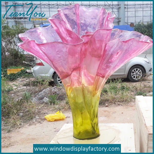 Modern Acrylic Tall Glass Vase Decoration Crafts