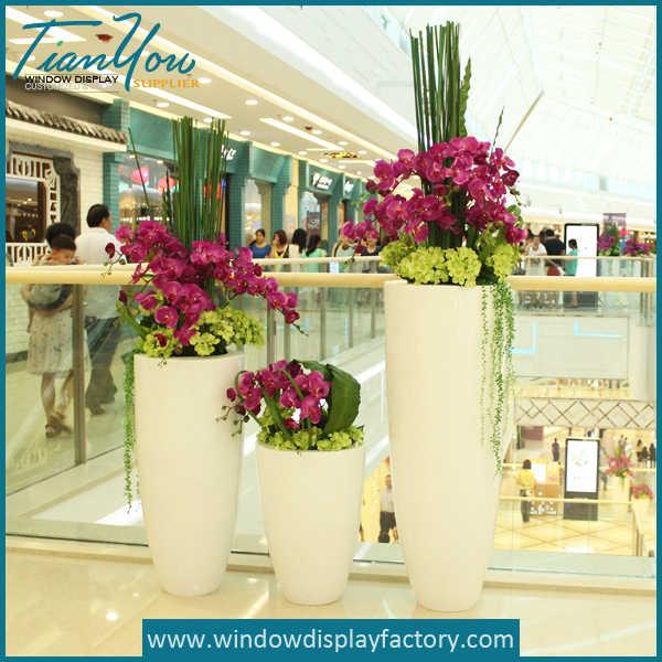 Decorative Giant Fiberglass Large Floor Vases Display