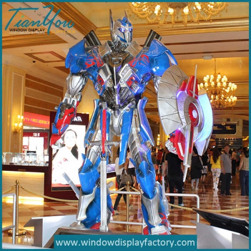 Giant Realistic Decoration Fiberglass Transformers Display