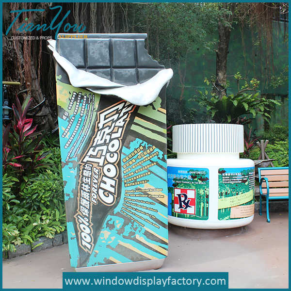 Giant Custom Adversting Fiberglass Chocolate Display