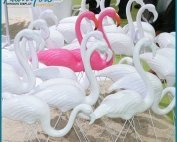 2 177x142 - Giant Colored Fiberglass Flamingo Ornament