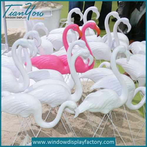 2 500x500 - Giant Colored Fiberglass Flamingo Ornament