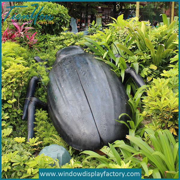 Park Decoration Giant Fiberglass Bettle Props