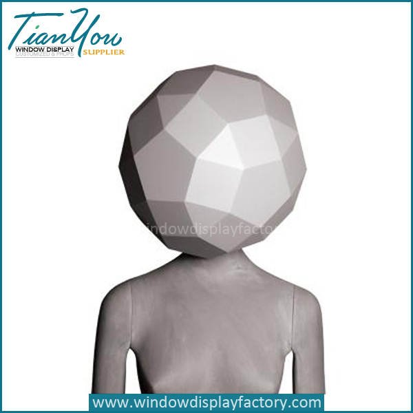 Half Body Female Fiberglass Abstract Mannequin Display