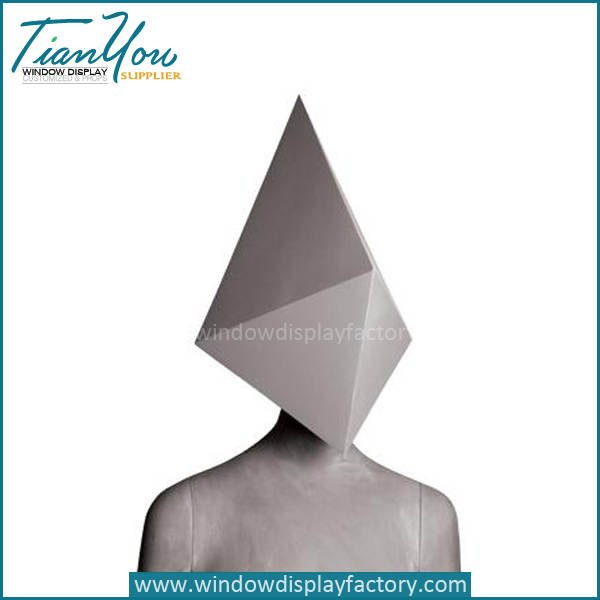 Abstract mannequin with Cement ash finishing - Half Body Female Fiberglass Abstract Mannequin Display