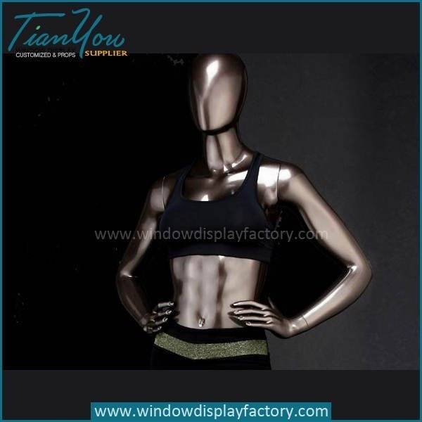 Custom Female Clolored Bronze Fiberglass Mannequin