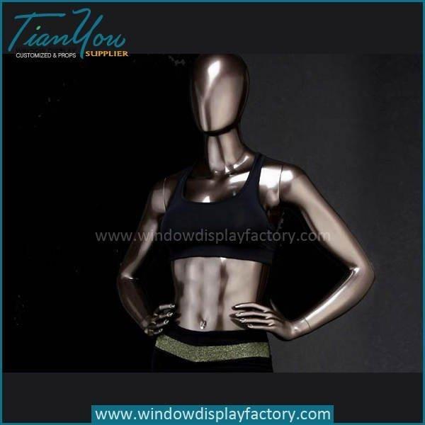 Custom Female Clolored Bronze Fiberglass Mannequin