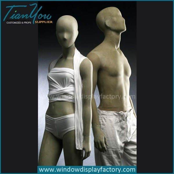 Popular Full Body Fiberglass Coment Color Mannequin
