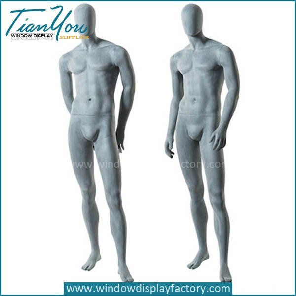 Cement grey fashion male mannequin - Popular Full Body Fiberglass Coment Color Mannequin