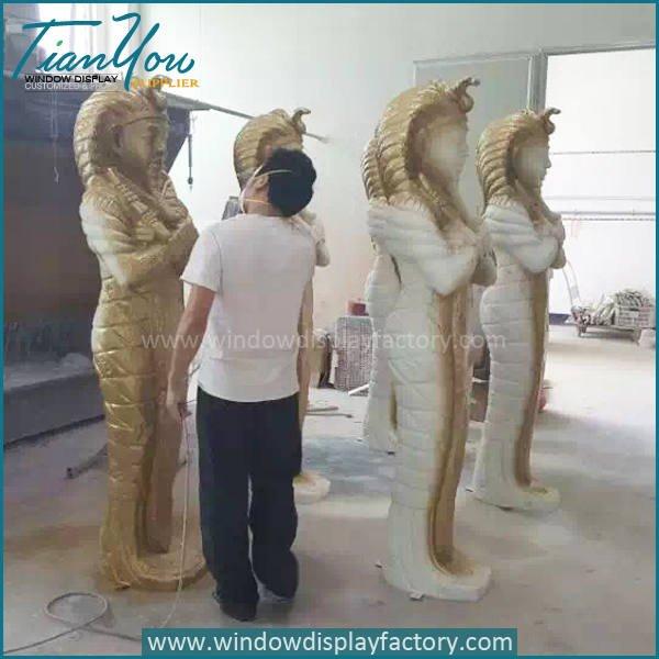 Cleopatra2 - Custom Life Size Gold Fiberglass Cleopatra Figure