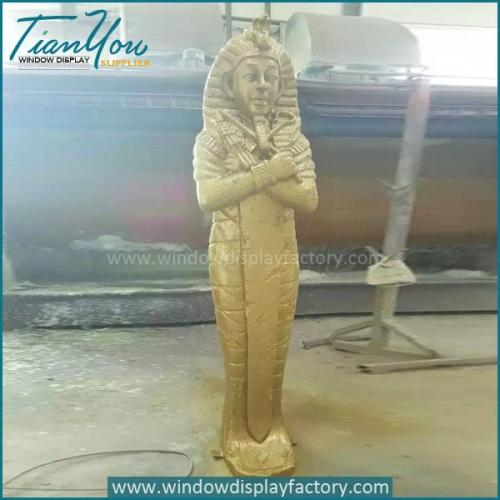 Custom Life Size Gold Fiberglass Cleopatra Figure