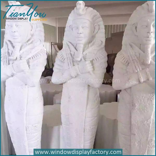 Cleopatra4 - Custom Life Size Gold Fiberglass Cleopatra Figure