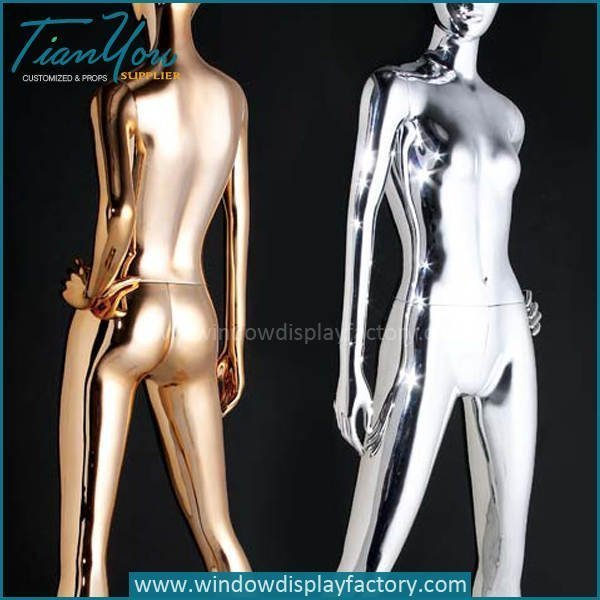 Female Full Body Electroplate Colored Mannequin