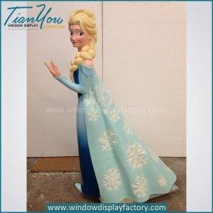 Beautiful Fiberglass Frozen Cartoon Statue Display