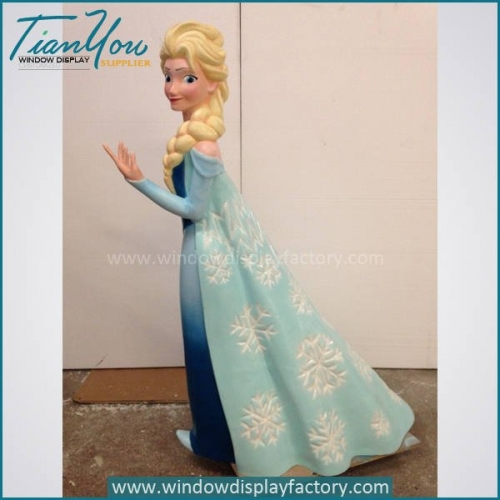 Beautiful Fiberglass Frozen Cartoon Statue Display