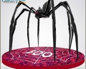 Holy Giant Fiberglass Halloween Spider Display