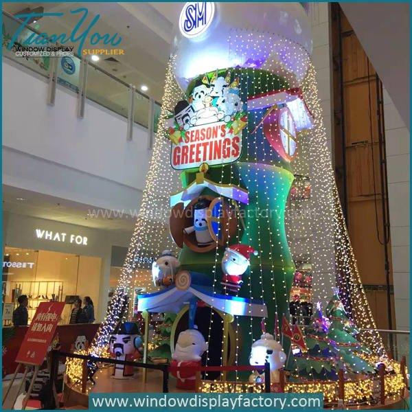 Santa Claus2 - Fiberglass Christmas Decoration Cute Santa Claus Statue