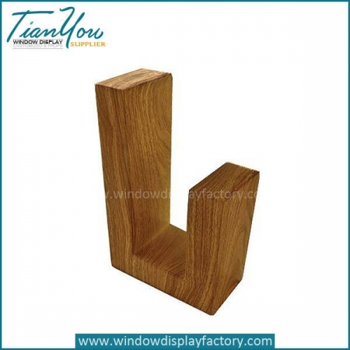 New Style Custom Wood U Shape Display Stand Fixtures