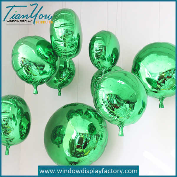 Electroplate Colorful Decoration Fiberglass Balloons
