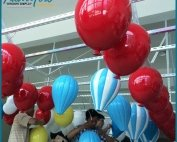 Giant Colorful Decoration Fiberglass Hot Air Baloon