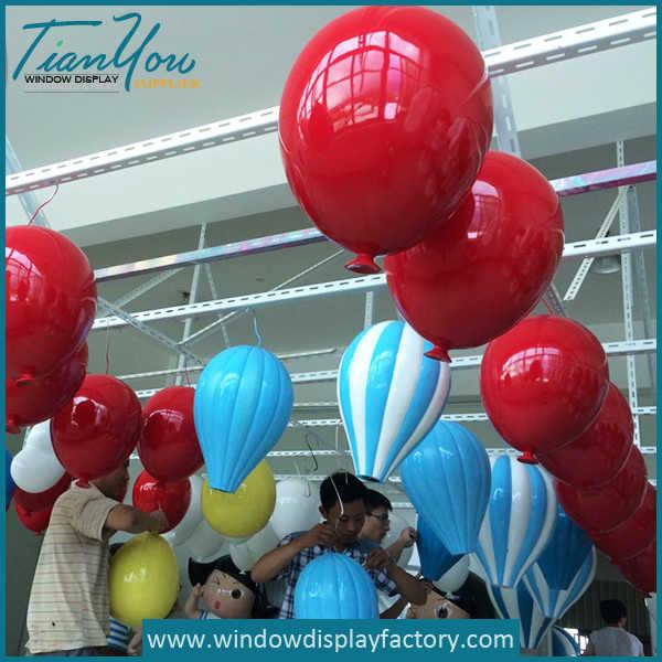 Giant Colorful Decoration Fiberglass Hot Air Balloons